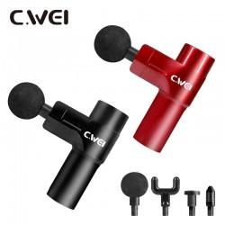 C.WEI 4段式輕量迷你筋膜按摩槍【附硬殼收納包】